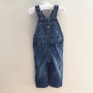 OshKosh Toddler Boy Blue Jean Overalls 18 Months